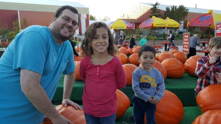 Pumpkin farm with tio David!